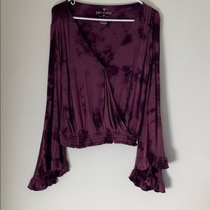 """American Eagle """"Soft and Sexy"""" Surplice Blouse"""